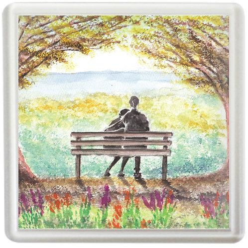 Couple On Park Bench - Coaster