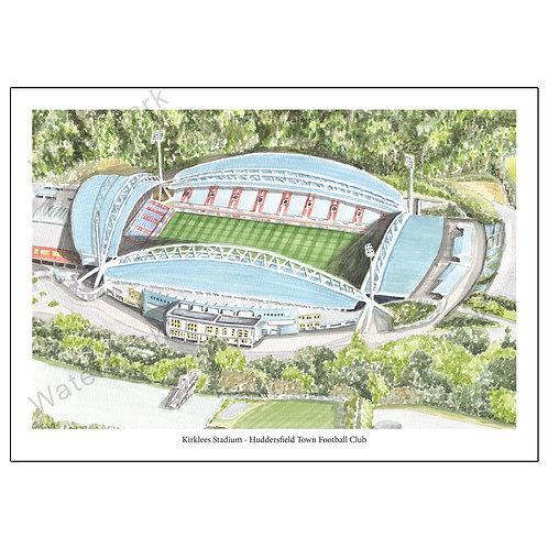 Huddersfield Town Football Club - Kirklees Stadium, Print A4 or A3