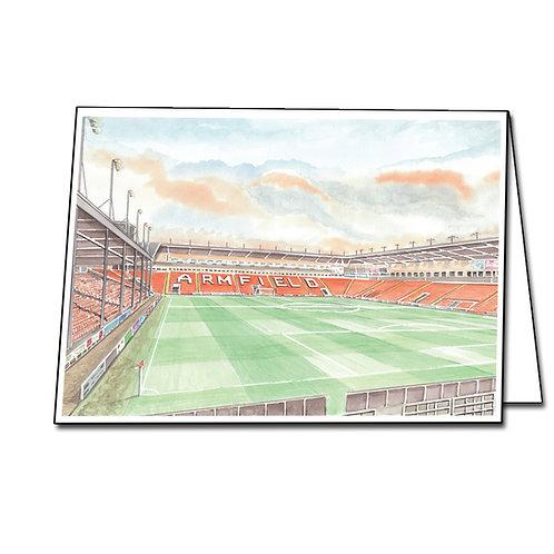 Blackpool Football Club - Inside Bloomfield Road - Greetings Card A5/A6
