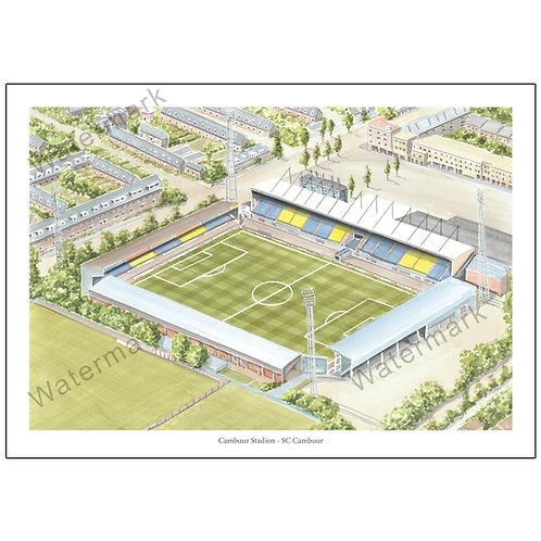 SC Cambuur, Cambuur Stadion (Eredivisie), Limited Edition Print A4 / A3
