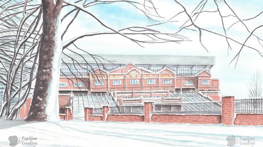 Aston Villa - Villa Park In The Snow
