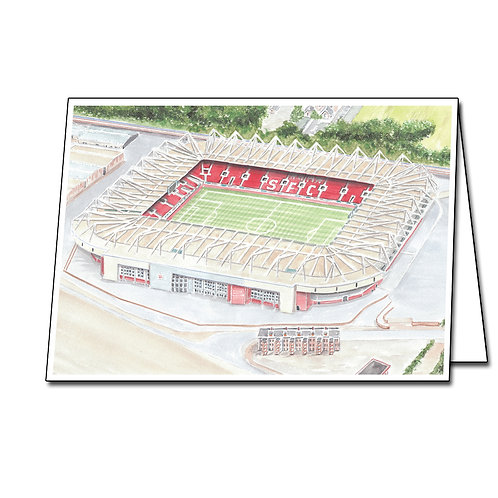 Southampton - St Marys Stadium - Greetings Card Landscape, A5/A6