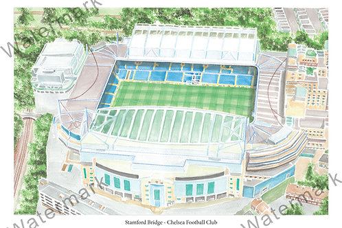 Chelsea - Stamford Bridge, Limited Edition Print A4 / A3