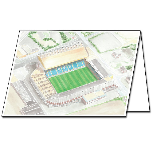 Leeds Utd - Elland Road - Greetings Card Landscape, A5/A6