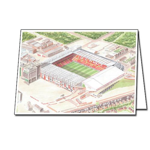 Sheffield United - Bramall Lane - Greetings Card Landscape, A5/A6