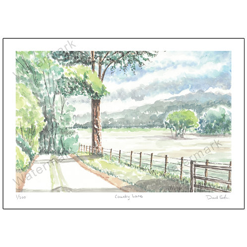 Country Lane  Print A4 or A3