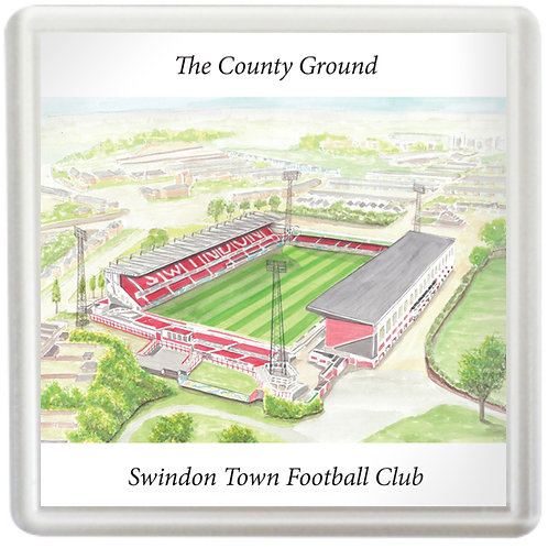 Swindon Town  - The County Ground - Coaster
