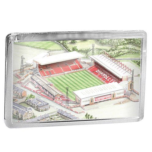 Barnsley Football Club - Oakwell Stadium - Fridge Magnet