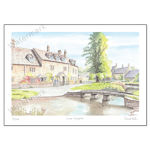 Lower Slaughter - Limited Edition,  Print A4 or A3