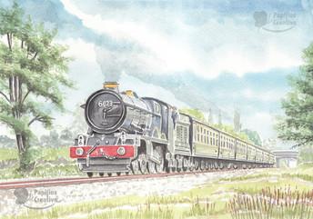 King Class 6023 King Edward II On The GWR