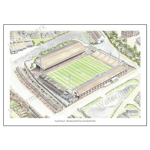 Huddersfield Town Football Club - Leeds Road, Print A4 or A3