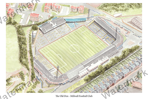 Milwall FC - The Old Den, Print A4 or A3