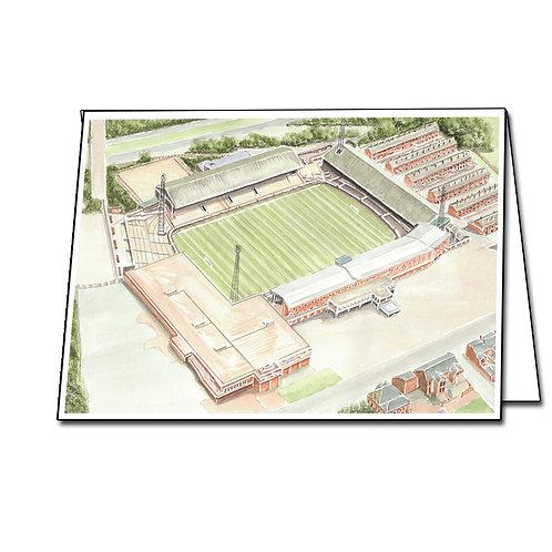 Bolton Wanderers, Burnden Park - Greetings Card A5/A6
