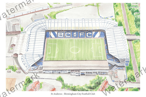 Birmingham City - St Andrews, Print A4 or A3