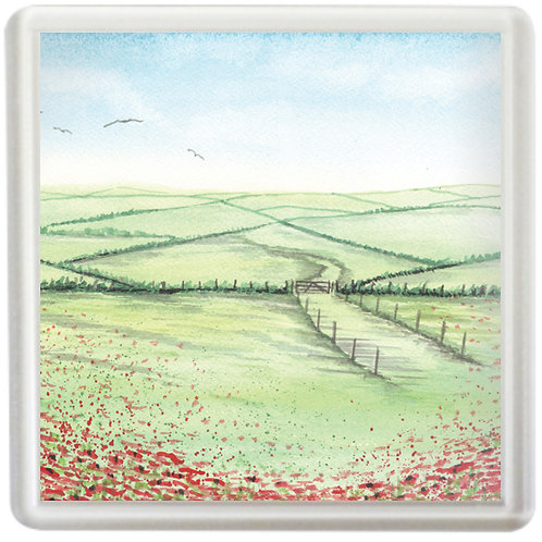 Poppy Field - Coaster