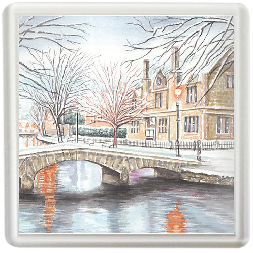 Snowy Bourton-on-the-Water - Coaster