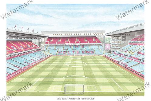 Aston Villa - Villa Park Inside View, Limited Edition Print A4 / A3