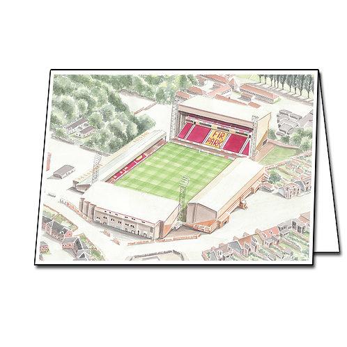 Motherwell Football Club - Fir Park - Greetings Card Landscape, A5/A6