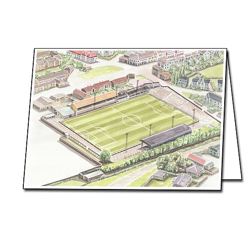 East Fife FC - Bayview Park - Greetings Card, A5/A6