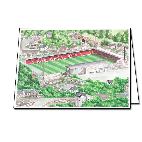 Cheltenham Town - Whaddon Road - Greetings Card Landscape, A5/A6