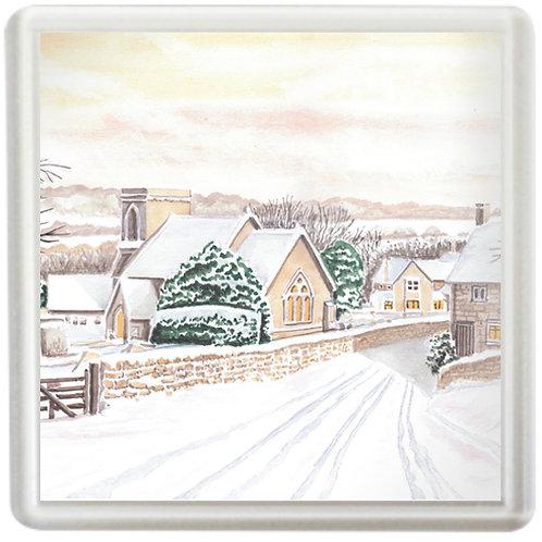 Snowshill In Winter - Coaster