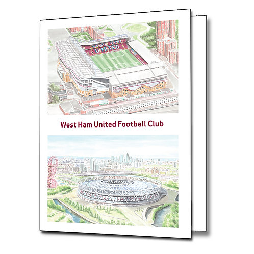 West Ham United - Stadiums - Greetings Card Portrait, A5/A6
