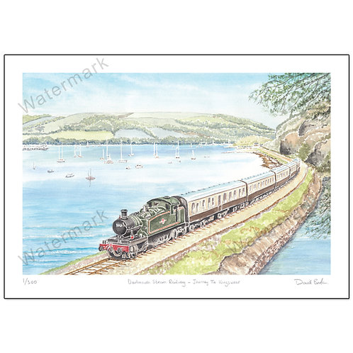 Dartmouth Steam Railway - Journey To Kingswear,  Print A4 or A3