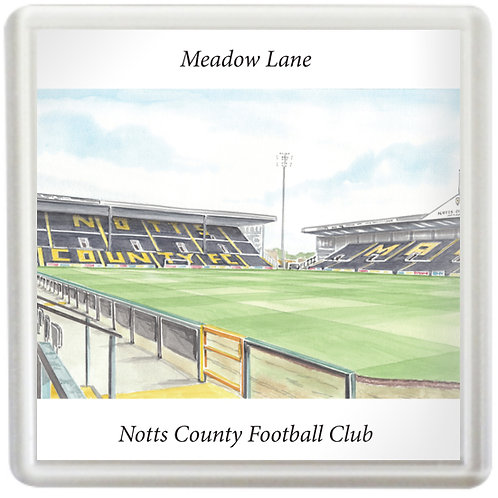Notts County Football Club - Inside Meadow Lane - Coaster