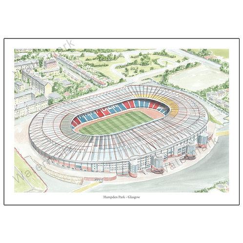 Hampden Park - Glasgow, Limited Edition Print A4 / A3
