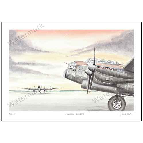 Lancaster Bombers,  Print A4 or A3
