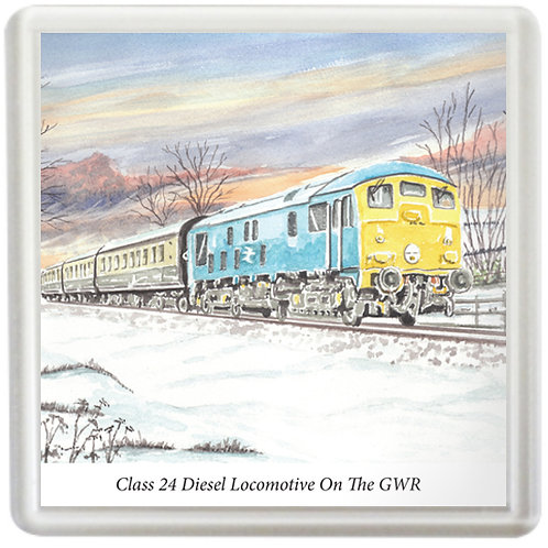 Class 24 Diesel Locomotive On The GWR - Coaster
