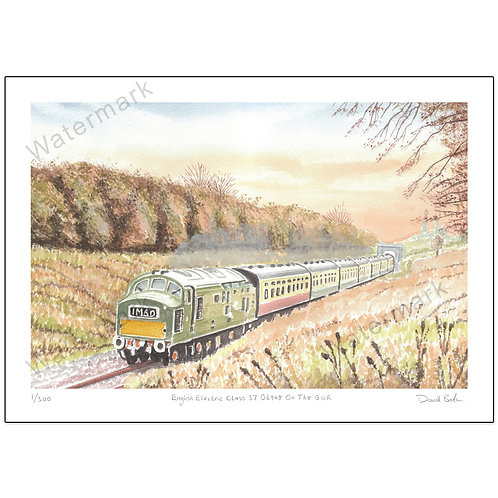 English Electric Class 37 D6948 On The GWR - Limited Edition,  Print A4 o