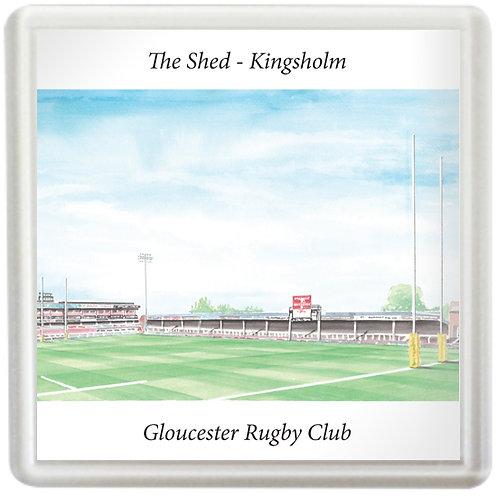 Gloucester Rugby - Kingsholm The Shed - Coaster