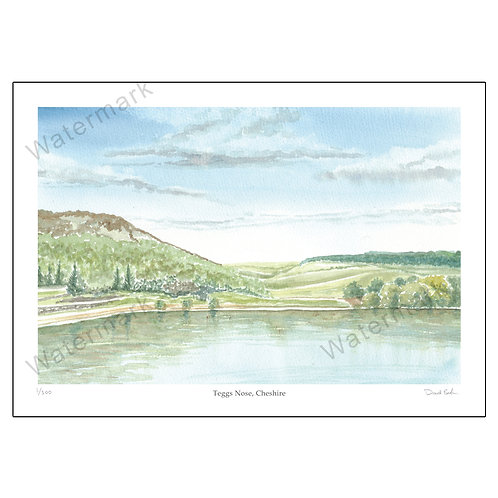 Teggs Nose, Cheshire - Limited Edition Print A4 or A3