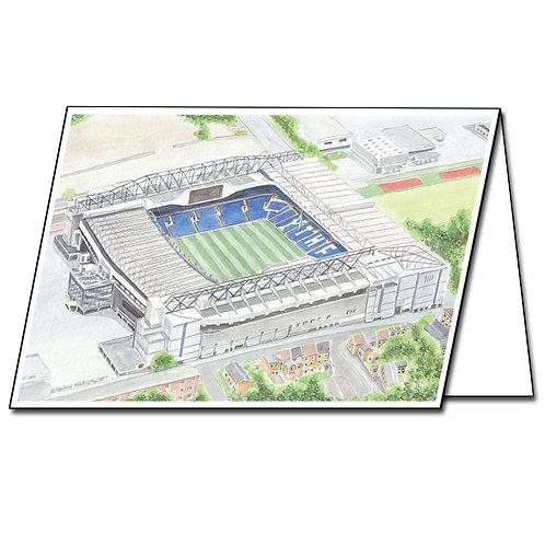 Tottenham Hotspur FC, White Hart Lane - Greetings Card Landscape, A5/A6