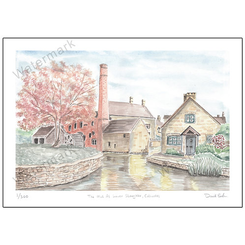 The Mill At Lower Slaughter, Print A4