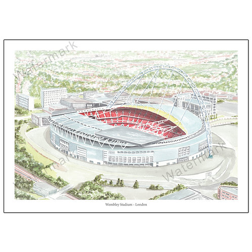 Wembley Stadium - London, , Limited Edition Print A4 / A3