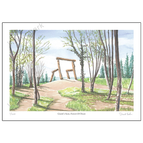 Giant's Seat, Forest Of Dean, Print A4 or A3