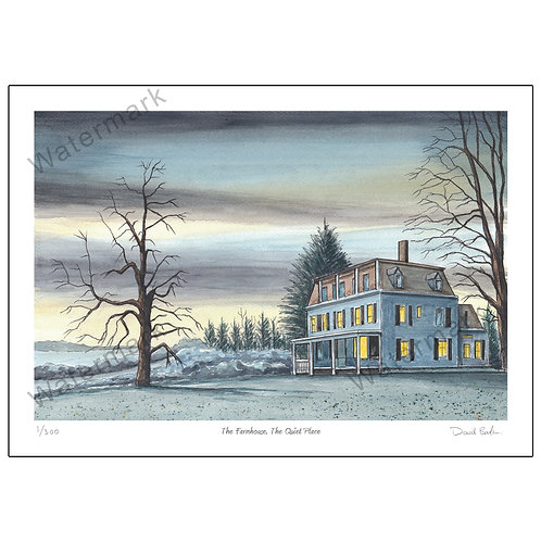 The Farmhouse, The Quiet Place, Print A4 or A3