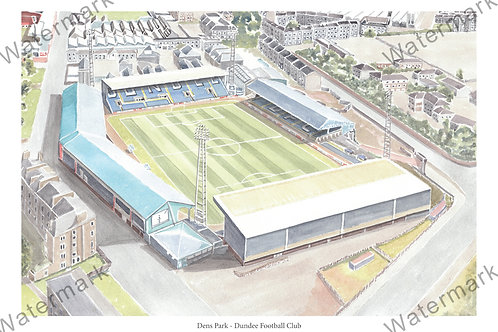 Dundee Football Club - Dens Park, Print A4 or A3
