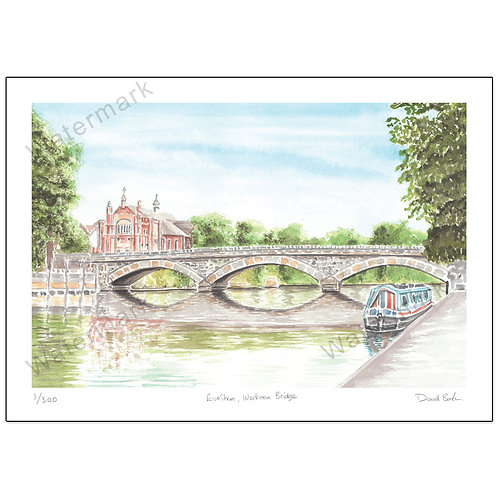 Workman Bridge, Evesham, Print A4