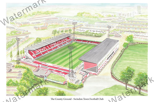 Swindon Town FC - The County Ground, Print A4 or A3
