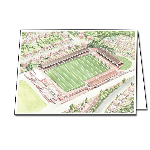 St Helens RFC - Knowsley Road - Greetings Card A5/A