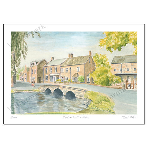 Bourton-on-the-Water - Limited Edition,  Print A4 or A3