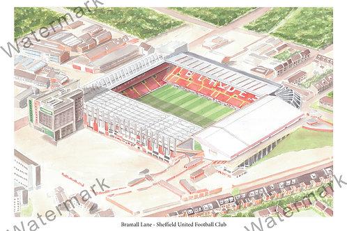 Sheffield United - Bramall Lane, Limited Edition Print A4 / A3