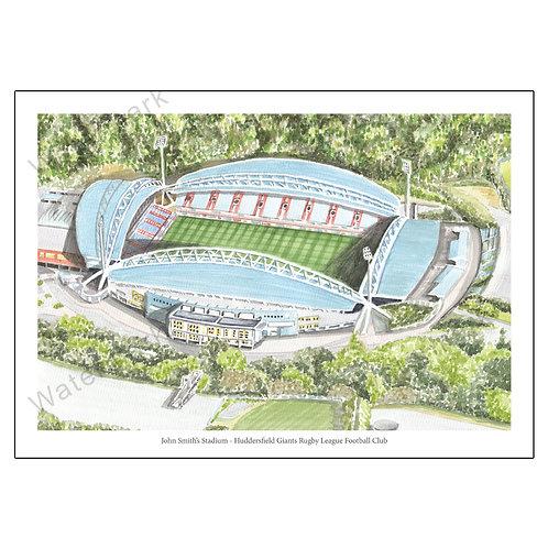 Huddersfield Giants RLFC - John Smith's Stadium Print A4 / A3