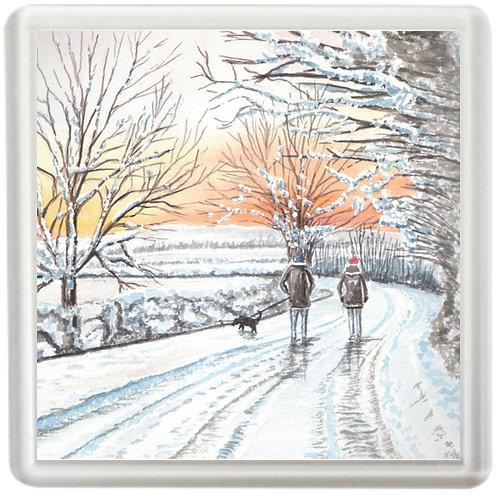 A Winters Walk - Coaster