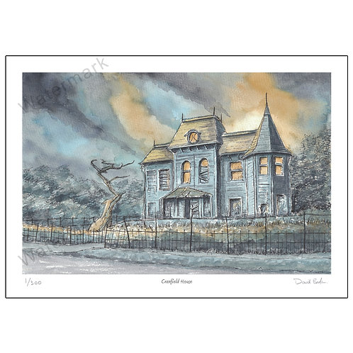 Cranfield House, (from the film IT) Print A4 or A3