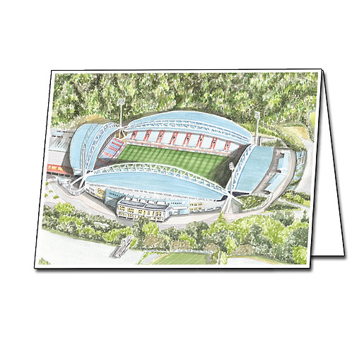 Huddersfield Town - Kirklees Stadium - Greetings Card Landscape, A5/A6