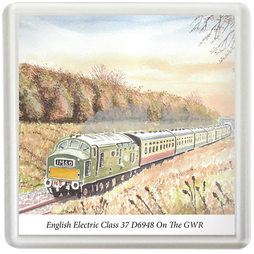 English Electric Class 37 D6948 On The GWR - Coaster